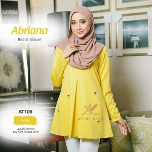 blouse kuning yellow size Abriana
