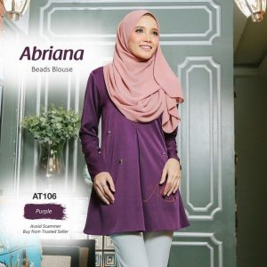 blouse plus size purple ungu Abriana